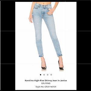 GRLFRND Karolina high rise skinny jean in Janise